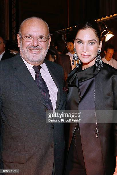 Maurice Amon and his wife Tracey Amon Designer Alber Elbaz pays tribute to Cesar Baldaccini by an Evening PicNic at the Ecole Nationale Superieure...