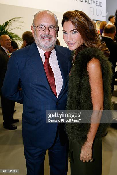 Maurice Amon and his wife Treacy attend the 'Diner des Amis du Musee d'Art Moderne' at Musee d'Art Moderne on October 21 2014 in Paris France