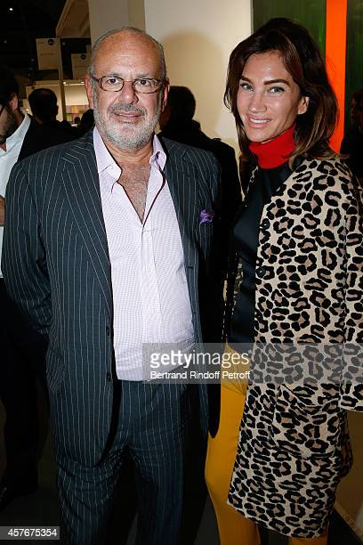 Maurice Amon and his wife Treacy attend the FIAC 2014 International Contemporary Art Fair Official Opening at Le Grand Palais on October 22 2014 in...
