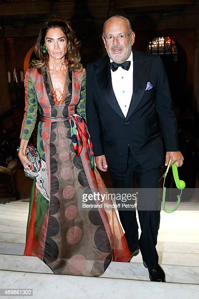 Maurice Amon and his wyfe Tracy attend the Ballet National de Paris Opening Season Gala at Opera Garnier on September 24 2015 in Paris France