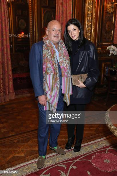 Maurice Amon and Tatiana De Pahlen attend the Matchesfashioncom x Fabrizio Viti dinner at The Travellers Club on January 23 2018 in Paris France