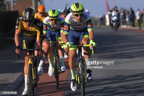 Maurice Ballerstedt of Germany and Jumbo-Visma Development Team & Danny van Poppel of The Netherlands and Team IntermarchŽ-Wanty-Gobert MatŽriaux...