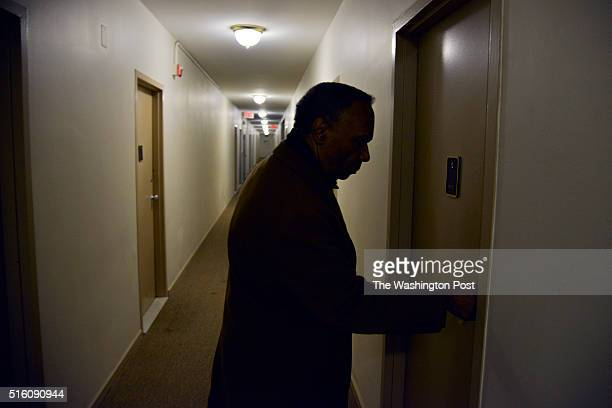 Maurice Barboza enters his apartment at the Hunting Towers on Friday February 14 in Alexandria VA Residents of the 525 apartments are worried about...