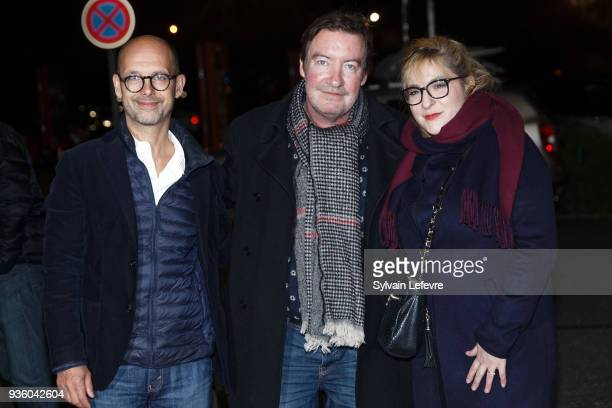 Maurice Barthelemy Philippe Duquesne and Marilou Berry attend opening ceremony during Valenciennes Film Festival on March 21 2018 in Valenciennes...