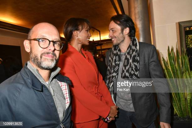Maurice Barthelemy Sonia Rolland and Michael Cohen attend the Hotel Napoleon 90th Anniversary Party in Paris on September 24 2018 in Paris France