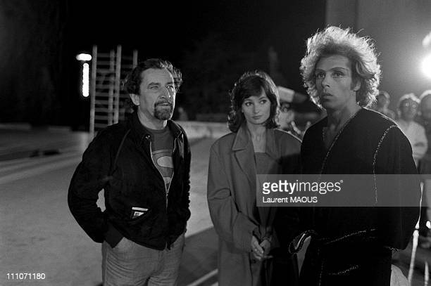 Maurice Bejart Evelyne Bouix and Jorge Donn of film Each Other in Paris France in 1980