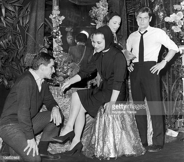 Maurice Bejart Maria Casares Monique Chaumette And Jean Babilie In 1963