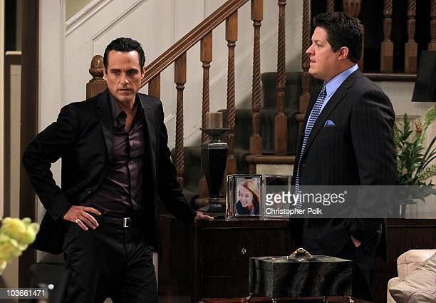 Maurice Benard and Derk Cheetwood in a scene that airs the week of September 13 2010 on ABC�s GENERAL HOSPITAL