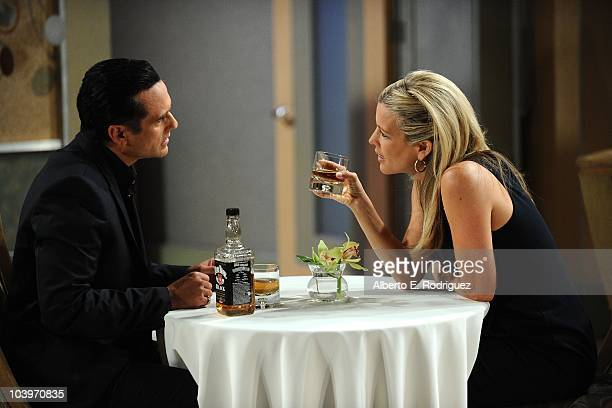 Maurice Benard and Laura Wright in a scene that airs the week of September 27th on ABC's GENERAL HOSPITAL