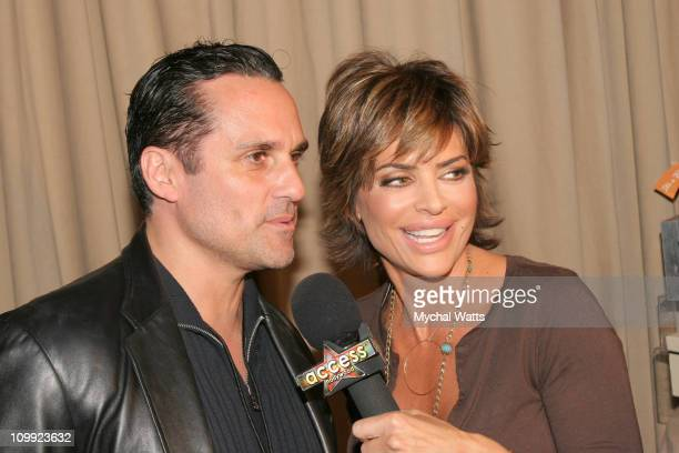 Maurice Benard and Lisa Rinna during 33rd Annual Daytime Emmy Awards Gift Suite Day 1 in Los Angeles California United States