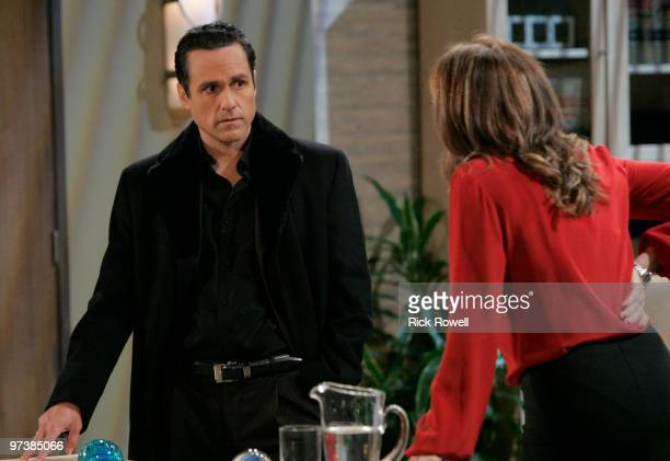 HOSPITAL Maurice Benard and Nancy Lee Grahn in a scene that airs the week of March 8 2010 on ABC Daytime's 'General Hospital' 'General Hospital' airs...
