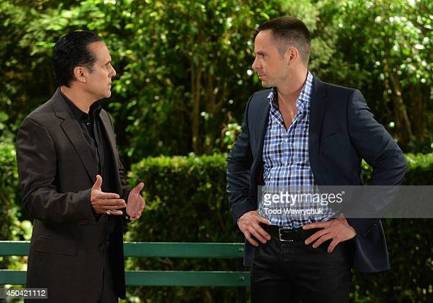 HOSPITAL Maurice Benard and William deVry in a scene that airs the week of June 16 2014 on ABC Daytime's 'General Hospital' 'General Hospital' airs...