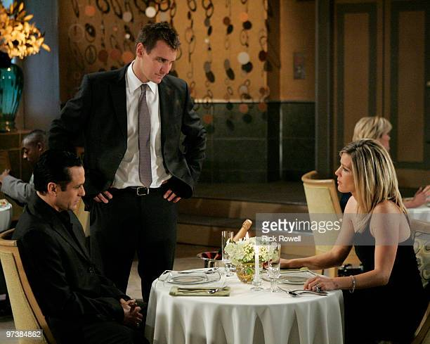 HOSPITAL Maurice Benard Ingo Rademacher and Laura Wright in a scene that airs the week of March 8 2010 on Walt Disney Television via Getty Images...
