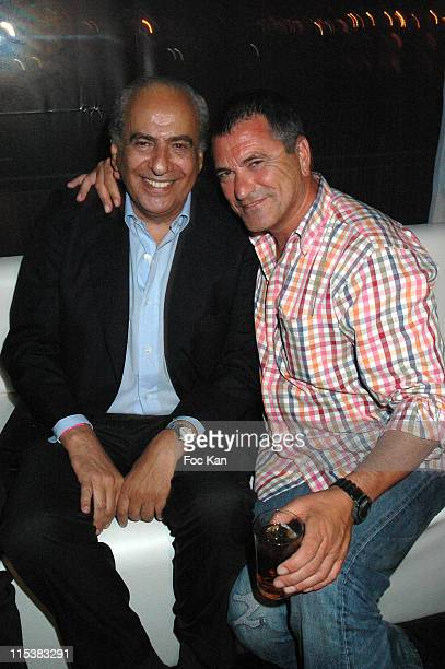 Maurice Benichou and Jean Marie Bigard during 2005 Cannes Film Festival Marc Dorcel Party at VIP Room Cannes Palm Beach in Cannes France