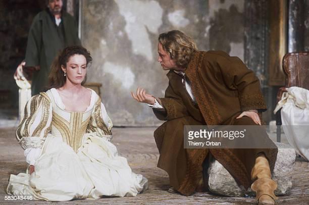 Maurice Benichou directs a new version of Moliere's Don Juan ou le festin de pierre at the Theatre des Bouffes du Nord Actor Niels Arestrup as Don...