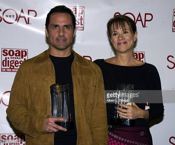 Maurice Bernard and Nancy Lee Grahn during Soapnet Presents The Soap Opera Digest Awards Press Room at ABC Prospect Studios in Los Angeles California...
