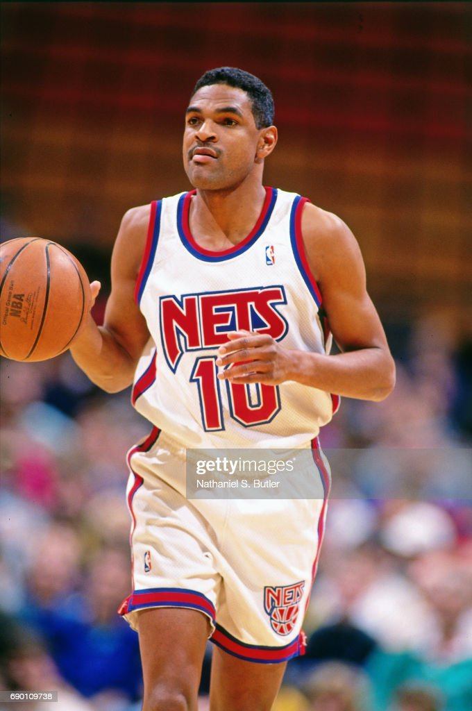 Maurice Cheeks of the New Jersey Nets brings the ball up court ... da39cded3