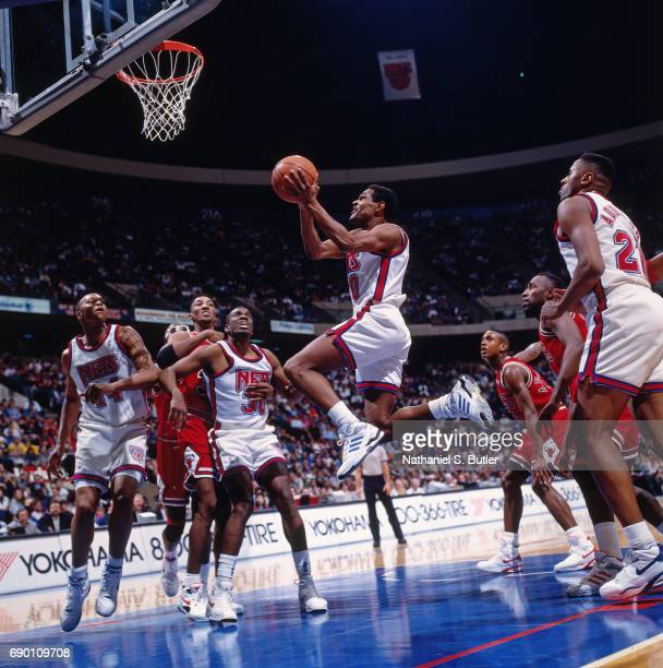 Maurice Cheeks of the New Jersey Nets goes for a lay up during the game  circa 841b816d7