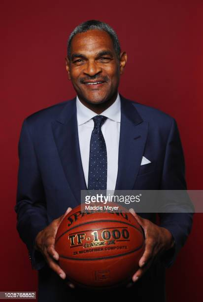 Maurice Cheeks poses for a portrait at the Naismith Memorial Basketball Hall of Fame on September 7 2018 in Springfield Massachusetts