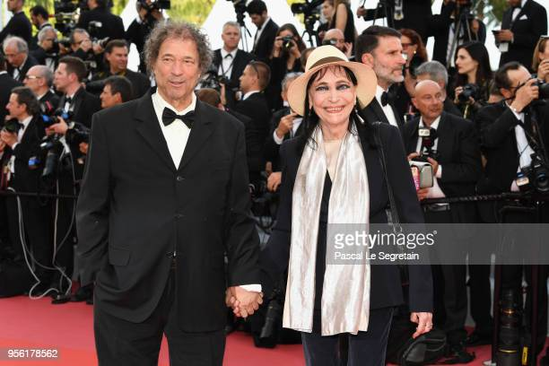 Maurice Cooks and Anna Karina attend the screening of 'Everybody Knows ' and the opening gala during the 71st annual Cannes Film Festival at Palais...