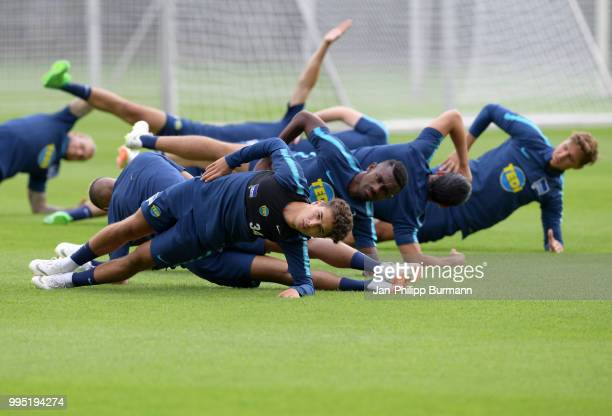Maurice Covic of Hertha BSC during the training at the Schenkendorfplatz on July 10 2018 in Berlin Germany