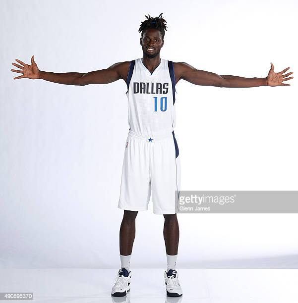 Maurice Daly Ndour of the Dallas Mavericks poses for a photo during media day on September 28 2015 at the American Airlines Center in Dallas Texas...