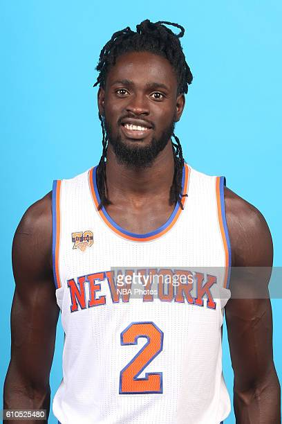 Maurice Daly Ndour of the New York Knicks poses for a head shot during media day at the Ritz Carlton in White Plains New York on September 26 2016...