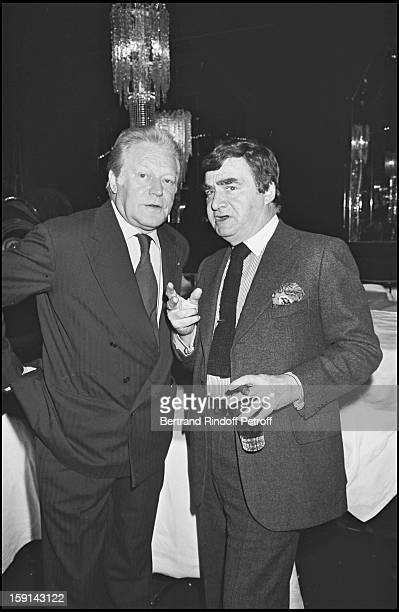 Maurice Druon and Pierre Salinger attend Mei Chen Chalais birthday party in 1977