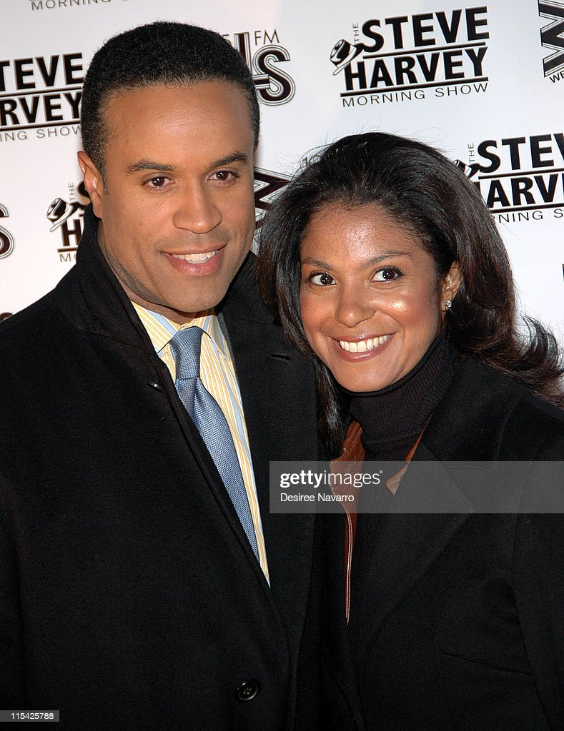 Maurice Dubois and guest during 'Don't Trip...He Ain't Through With Me Yet' New York Premiere at Magic Johnson Harlem Theate in New York City, New York, United States.