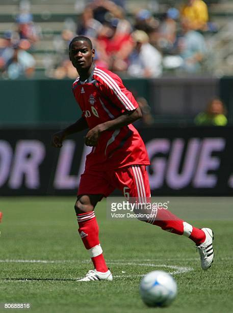 Maurice Edu of Toronto FC plays his position at midfield during their MLS game against the Los Angeles Galaxy in the first half at the Home Depot...