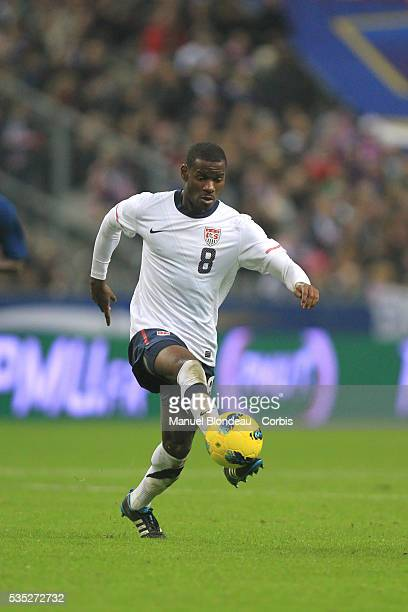 Maurice Edu of USA runs with the ball during the International Friendly match between France and USA at Stade de France on November 11 2011 in Paris...