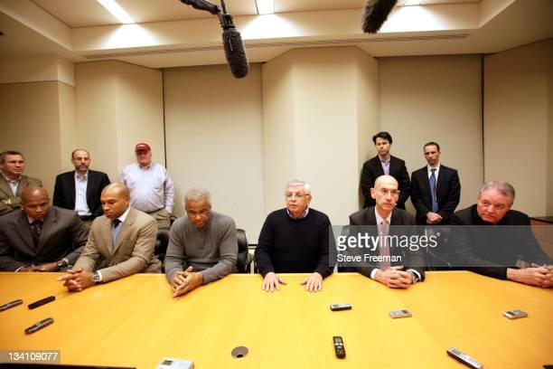 Maurice Evans Derek Fisher NBA Player's Association Executive Director Billy Hunter NBA Commissioner David Stern Deputy Commissioner Adam Silver and...