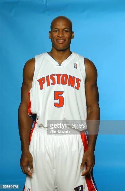 Maurice Evans of the Detroit Pistons poses for a portrait during the Pistons Media Day on October 3 2005 in Auburn Hills Michigan NOTE TO USER User...