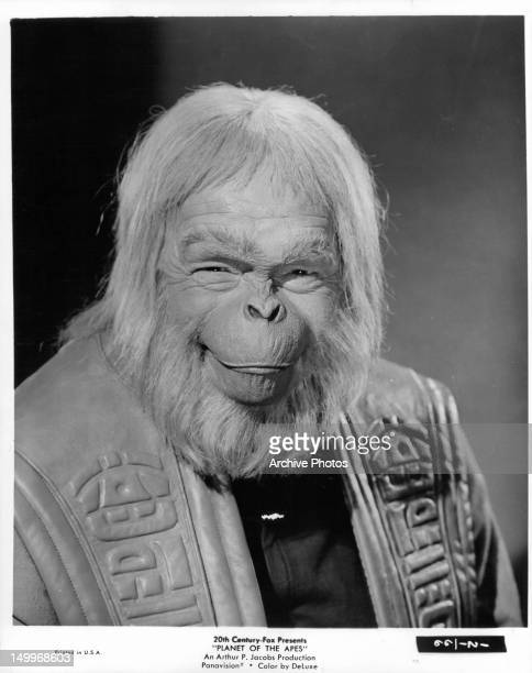 Maurice Evans publicity portrait for the film 'Planet Of The Apes' 1968