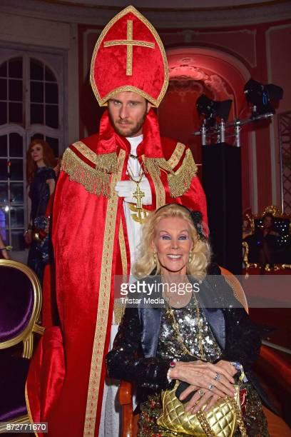Maurice Gajda and Birgit Bergen attend the 'Night Of The Dead Stars' Masquerade Ball at Schloss Marquardt on November 10 2017 in Potsdam Germany