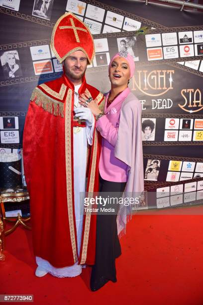 Maurice Gajda and Julian F M Stoeckel arrive at the 'Night Of The Dead Stars' Masquerade Ball at Schloss Marquardt on November 10 2017 in Potsdam...