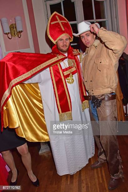 Maurice Gajda and Philipp Meuthien attend the 'Night Of The Dead Stars' Masquerade Ball at Schloss Marquardt on November 10 2017 in Potsdam Germany