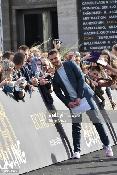 Maurice Gajda arrives at the Echo Award 2018 at Messe Berlin on April 12 2018 in Berlin Germany