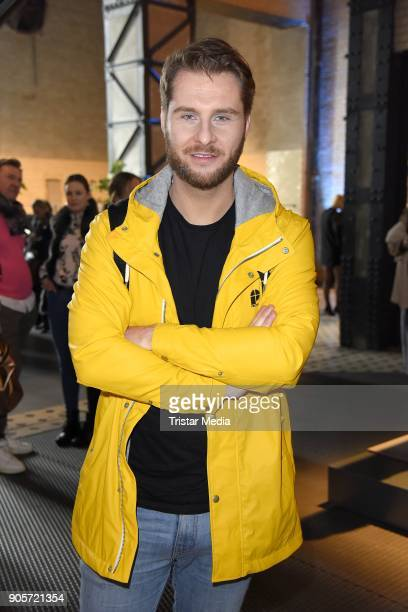 Maurice Gajda attends the Ewa Herzog show during the MBFW Berlin January 2018 at ewerk on January 16 2018 in Berlin Germany