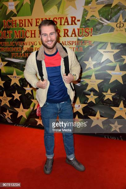 Maurice Gajda during the Public Viewing Of the TV Show 'Ich bin ein Star Holt mich hier raus' on January 19 2018 in Berlin Germany