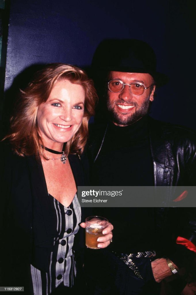 Maurice Gibb of the Bee Gees and wife Yvonne during Robin Gibb of Bee Gees at Club USA - 1993 at Club USA in New York City, New York, United States.
