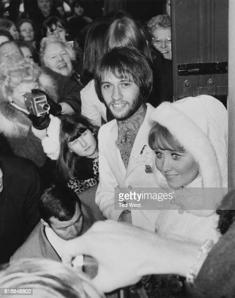 Maurice Gibb of the Bee Gees marries singer Lulu at St James' Church in Gerrard's Cross Buckinghamshire 18th February 1969