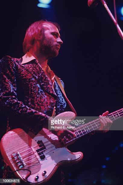 Maurice Gibb of the Bee Gees performs on stage in New York City in December 1976