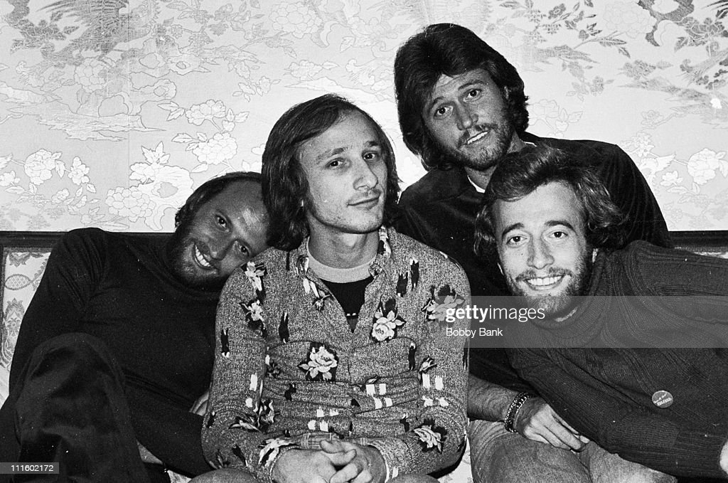 Maurice Gibb, Stan Soocher, Barry Gibb and Robin Gibb