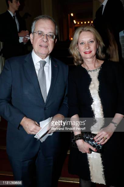 Maurice GourdaultMontagne and Amanda Galsworthy attend the Fondation Prince Albert II De Monaco Evening at Salle Gaveau on February 21 2019 in Paris...