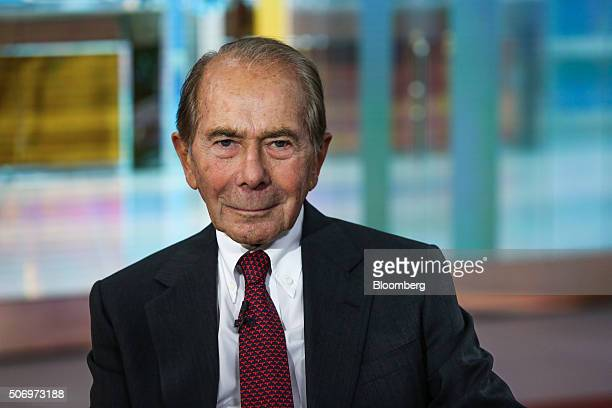 Maurice 'Hank' Greenberg chairman and chief executive officer CV Starr Co Inc sits for a photograph during a Bloomberg Television interview in New...