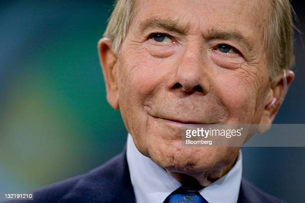 Maurice 'Hank' Greenberg former chairman and chief executive officer of American International Group Inc pauses during a Bloomberg via Getty Images...