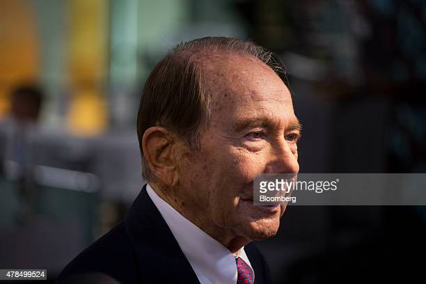 Maurice 'Hank' Greenberg former chairman and chief executive officer of American International Group Inc pauses during a Bloomberg Television...