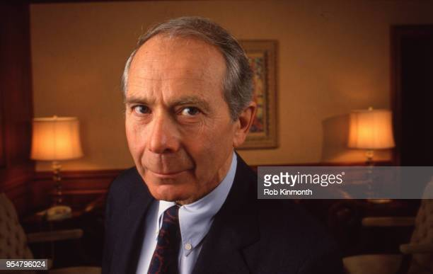 Maurice 'Hank' R Greenberg President and CEO of American International Group Inc in his office in New York City NY February 1986