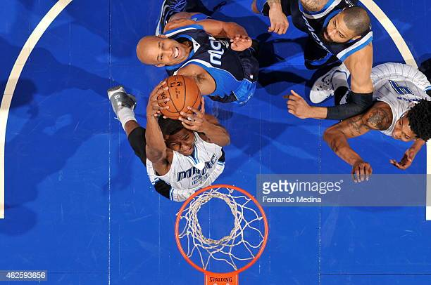Maurice Harkless of the Orlando Magic grabs a rebound against the Dallas Mavericks on January 31 2015 at Amway Center in Orlando Florida NOTE TO USER...